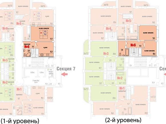 Планировка самой доступной трехкомнатной квартиры в Щелково