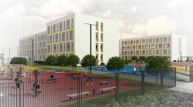 В щелково строится новая школа на 825 мест в микрорайоне Финский