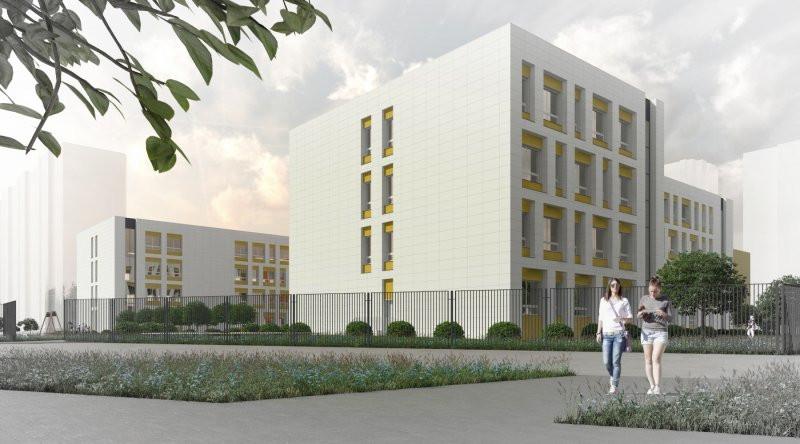 Строительство школы в микрорайоне Финский