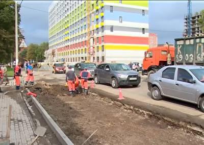 Завершается реконструкция улицы Краснознаменская в Щелкове